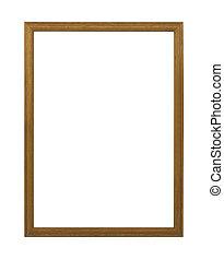 wooden frames on white background.