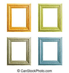 Wooden frames set - Old wooden frames set