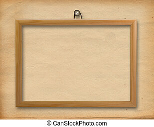 Wooden framework for portraiture on the abstract background