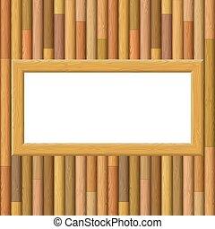 Wooden Framework on a Wall