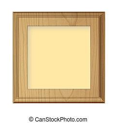 Wooden framework. Vector Design.