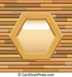 Wooden Framework with Paper on a Wall