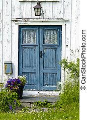 Wooden front door - Residential - Old wooden front door -...