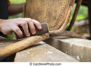 Wooden furniture restoration - Restoration, removing paint ...