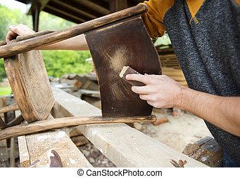 Wooden furniture restoration