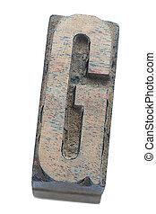 wooden G letter
