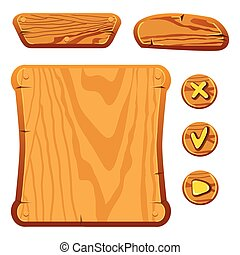 wooden game assets