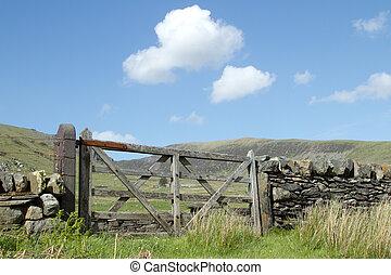 Wooden gate.