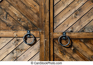 Wooden gate close-up