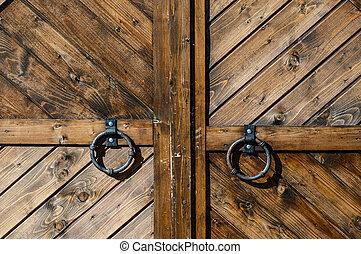 Wooden gate close-up