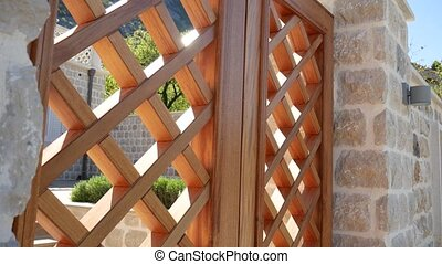 Wooden gates. Handmade. Exterior design elements - Wooden...