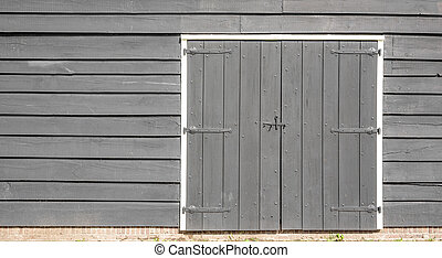 Wooden gates of the old house.