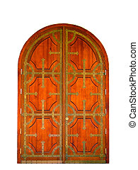 Wooden gates - Wooden gate forged by iron