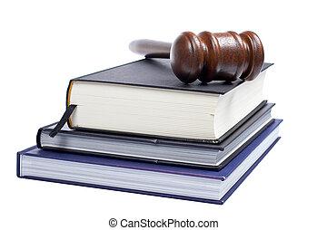 wooden gavel, és, törvény beír