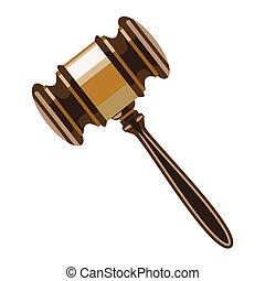 Wooden gavel