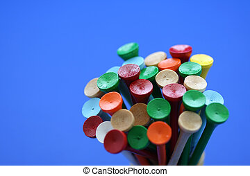 Wooden golf tees - Bunch of colorful wooden golf tees
