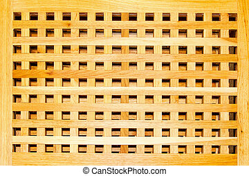 Wooden grille - Close up shot of rectangular wooden grille