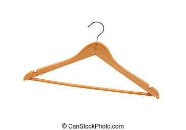 Wooden Hanger Old Fashioned Wooden Coat Hanger Isolated On White