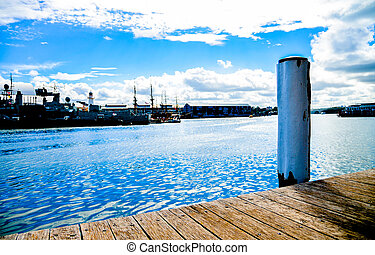Wooden harbour in Darling Harbour, Sydney Australia2