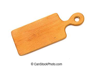 Wooden hardboard isolated on white