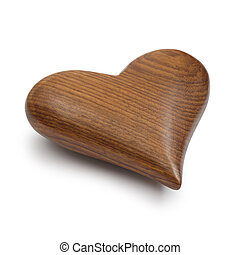 Wooden Heart on white
