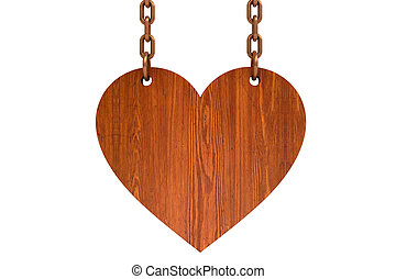 Wooden heart sign