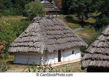 Wooden home. Kiev, Ukraine