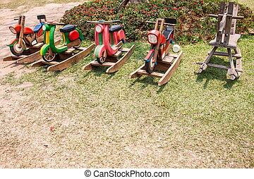 wooden horse toy for children