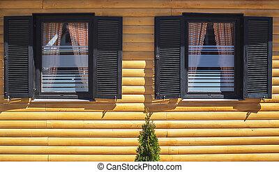 Wooden House Facade