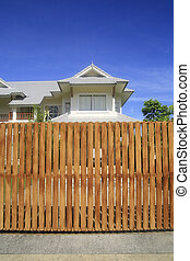 wooden house fence