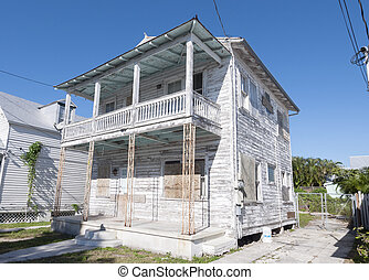 Wooden house in Key West, Florida, USA