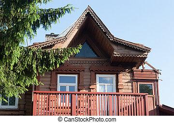 Wooden house in Vilnius, Zverynas district