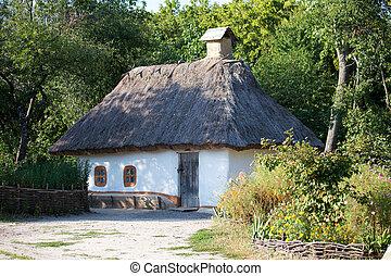 Wooden house. Kiev, Ukraine.