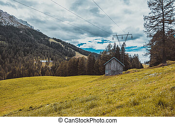 landscape in the Alps Italy
