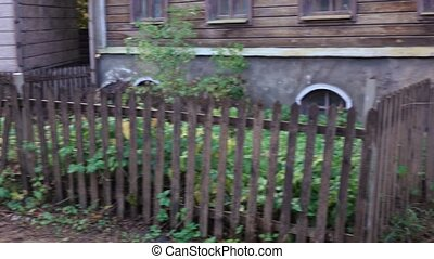 Wooden house of old Moscow - MOSCOW, RUSSIA - OCTOBER 13,...