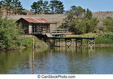 Wooden House on a lake