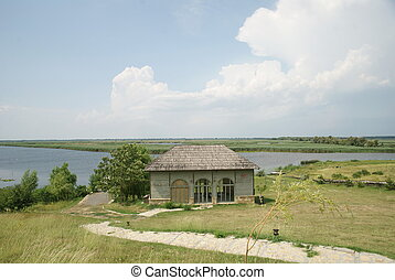 Wooden house on Danube Delta