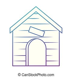wooden house pet icon