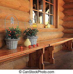 wooden house porch