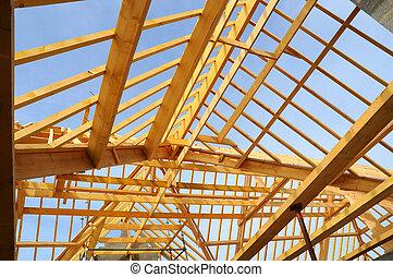 Wooden house skeleton