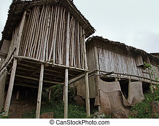 wooden houses in Africa