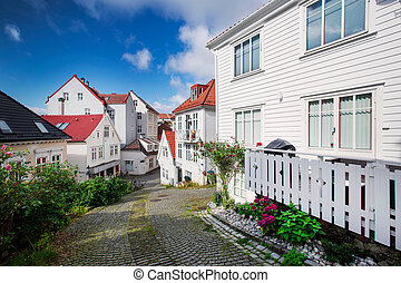 Wooden houses in Bergen, Norway