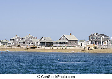 Wooden houses on Cape Cod - Wooden sea side houses on the...