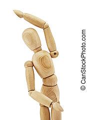 Wooden human dummy