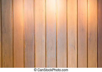 Wooden interior background with light