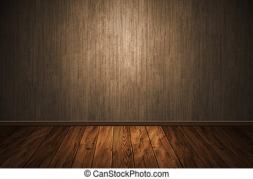 wooden interior empty for design