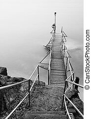 Wooden Jetty and seascape