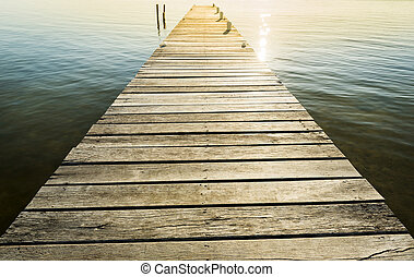 Wooden Jetty Background