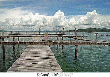 wooden jetty in the sea