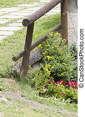 wooden kerítés